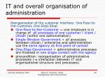 it and overall organisation of administration5