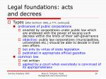 legal foundations acts and decrees1