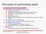 principles of performing tasks