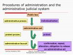 procedures of administration and the administrative judicial system