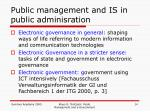 public management and is in public adminisration