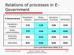 relations of processes in e government