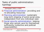 tasks of public administration typology1