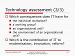 technology assessment 3 3