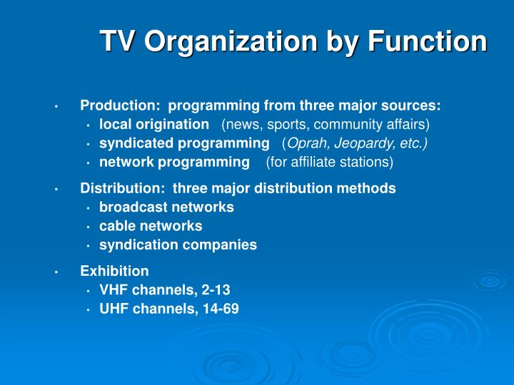 TV Organization by Function