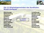 die 22 mitgliedsgemeinden des syndikates minett kompost