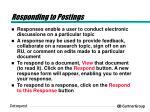 responding to postings
