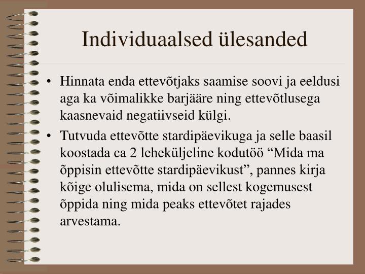 Individuaalsed ülesanded