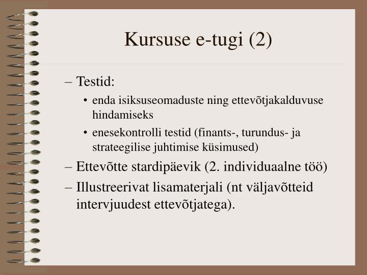 Kursuse e-tugi (2)
