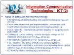 information communication technologies ict 2