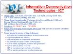 information communication technologies ict