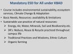 mandatory esd for all under kbad