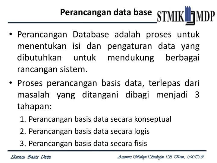 Perancangan data base