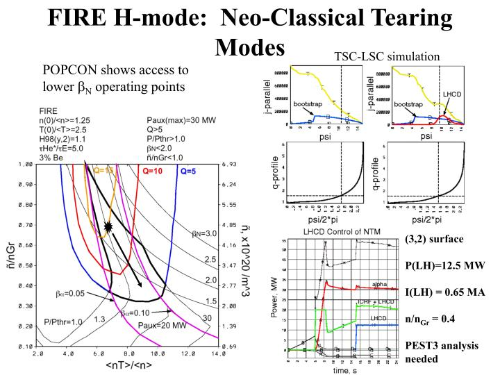 FIRE H-mode:  Neo-Classical Tearing Modes