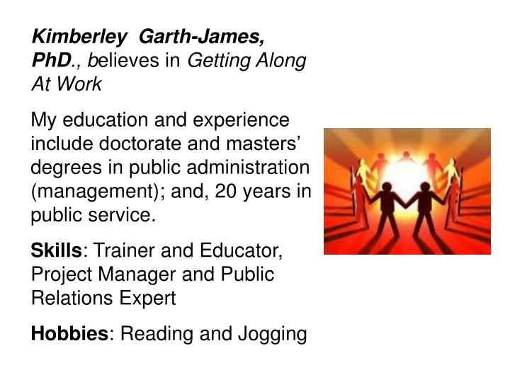 Kimberley  Garth-James, PhD