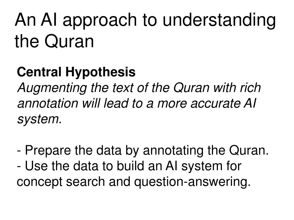 PPT - Corpus Linguistics for Understanding the Quran PowerPoint
