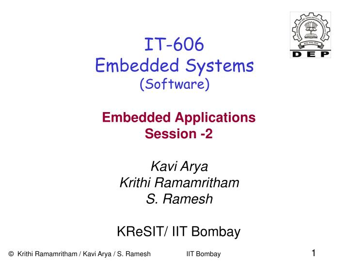 it 606 embedded systems software n.