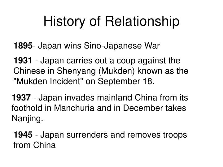 History of relationship