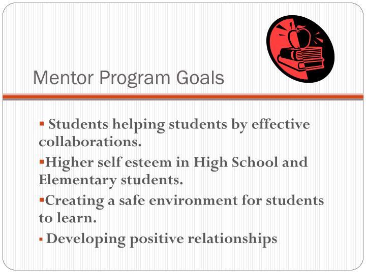 Mentor Program Goals