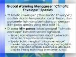 global warming menggeser climatic envelope spesies