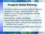 pengaruh global warming