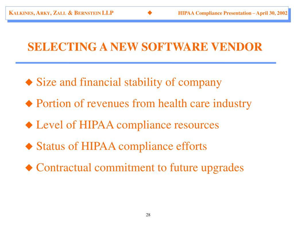 hipaa compliance software vendors