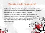 darwin en de consument