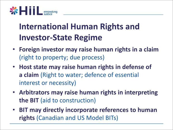 International Human Rights and Investor-State Regime