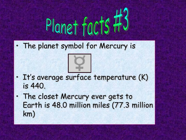 The planet symbol for Mercury is