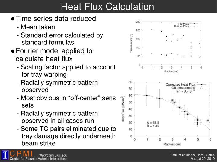 Heat Flux Calculation
