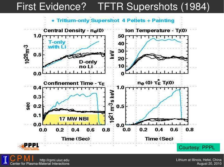 First Evidence?    TFTR
