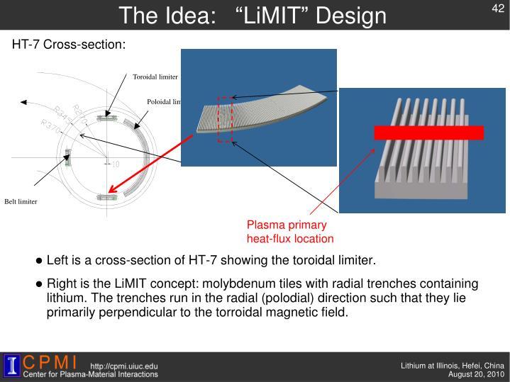 """The Idea:   """"LiMIT"""" Design"""