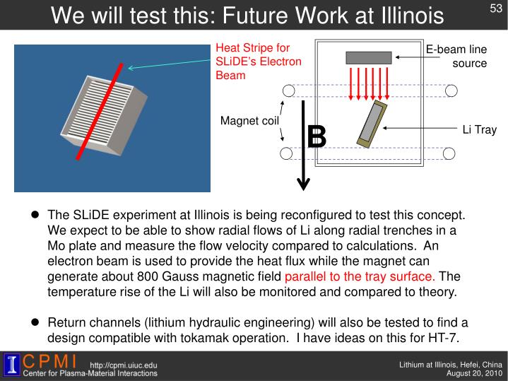 We will test this: Future Work at Illinois