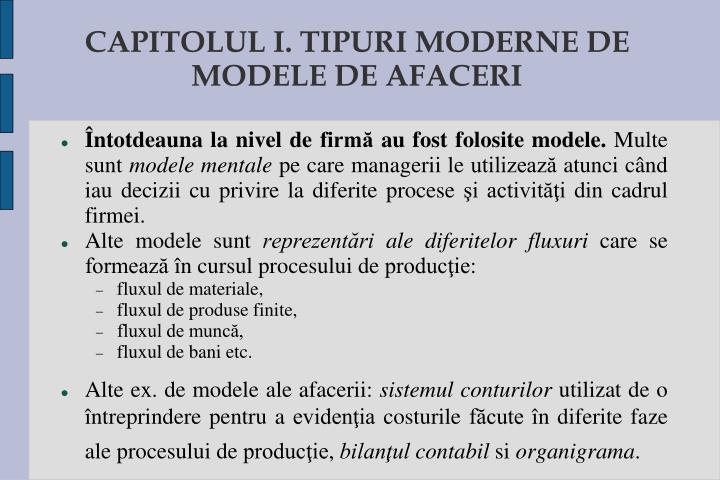 CAPITOLUL I. TIPURI MODERNE DE MODELE DE AFACERI