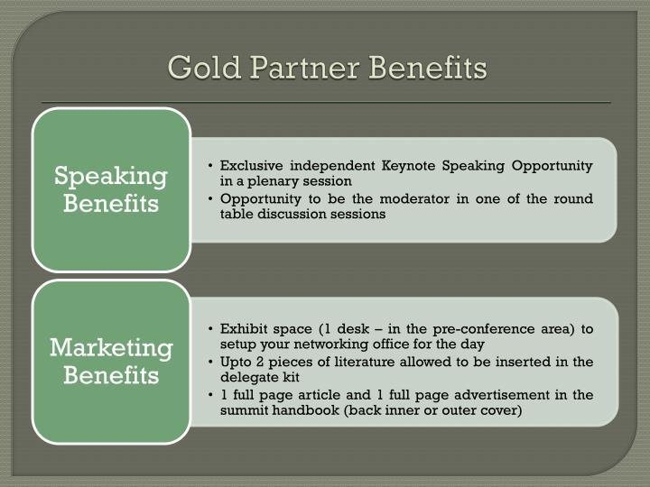 Gold Partner Benefits