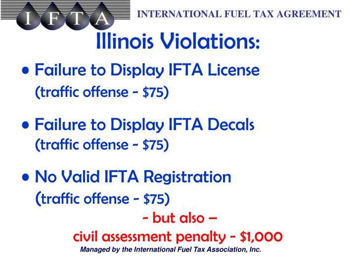 Illinois Violations: