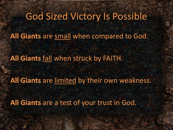 God Sized Victory Is Possible