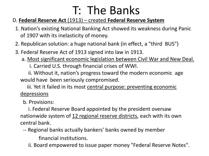 T:  The Banks
