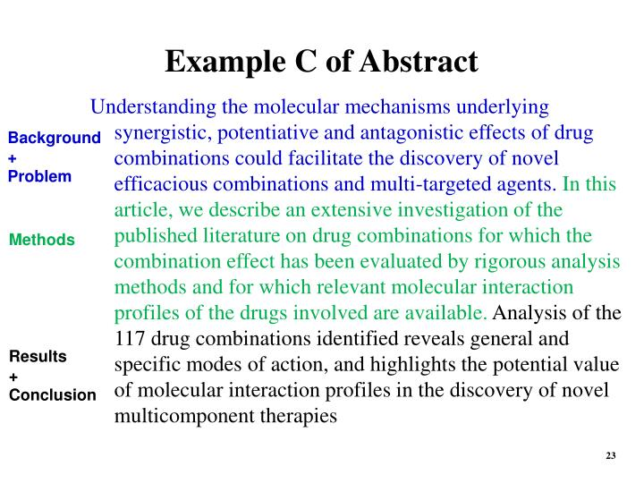 Example C of Abstract