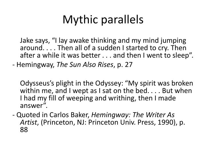 Mythic parallels