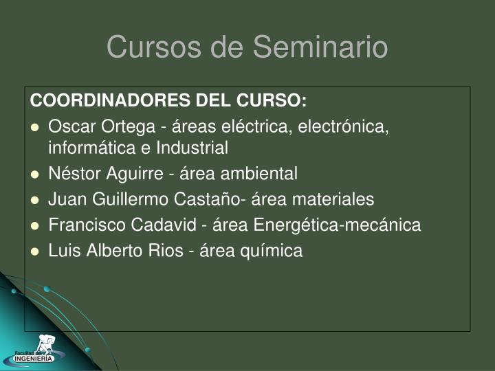 COORDINADORES DEL CURSO: