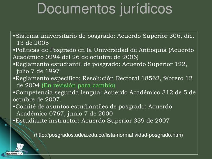 Documentos jurídicos