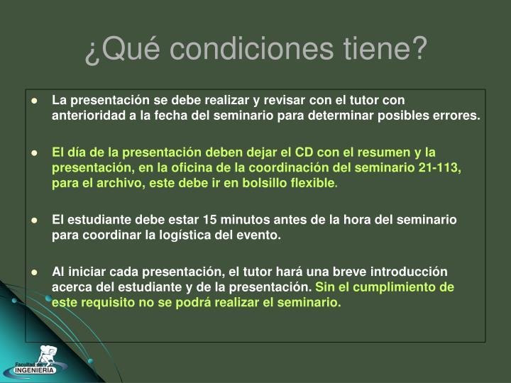 La presentación se debe realizar y revisar con el tutor con anterioridad a la fecha del seminario para determinar posibles errores.