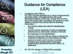 guidance for compliance lea