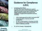 guidance for compliance lea1