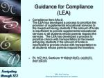 guidance for compliance lea10