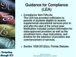guidance for compliance lea2