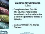 guidance for compliance lea3