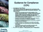 guidance for compliance lea7