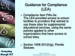 guidance for compliance lea8